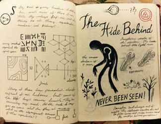 Gravity Falls Journal 3 Replica - The Hide Behind by leoflynn
