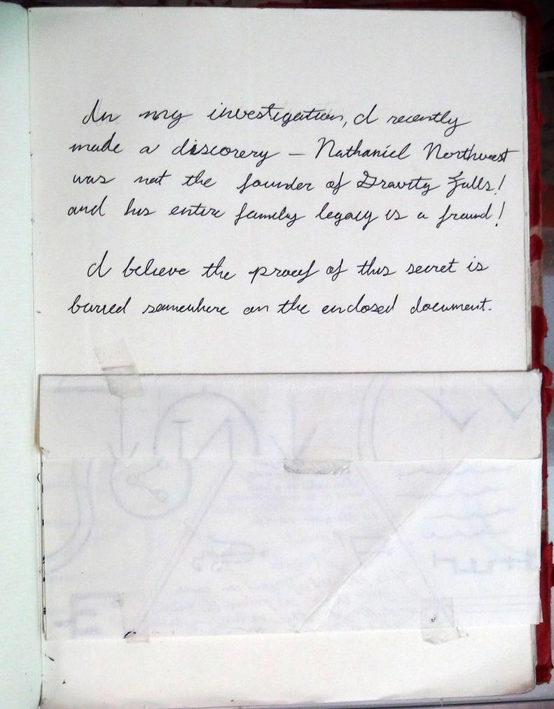 Gravity Falls Journal 3 Replica - Conspiracy page by leoflynn