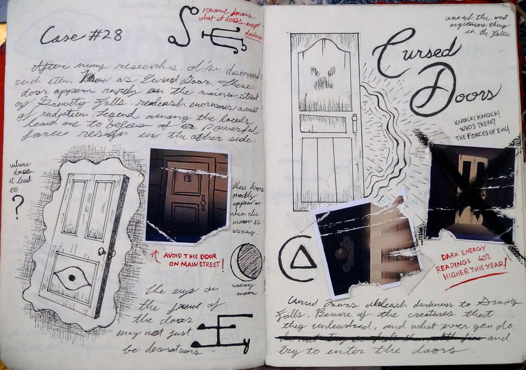 Gravity Falls Journal 3 Replica - Cursed Doors by leoflynn