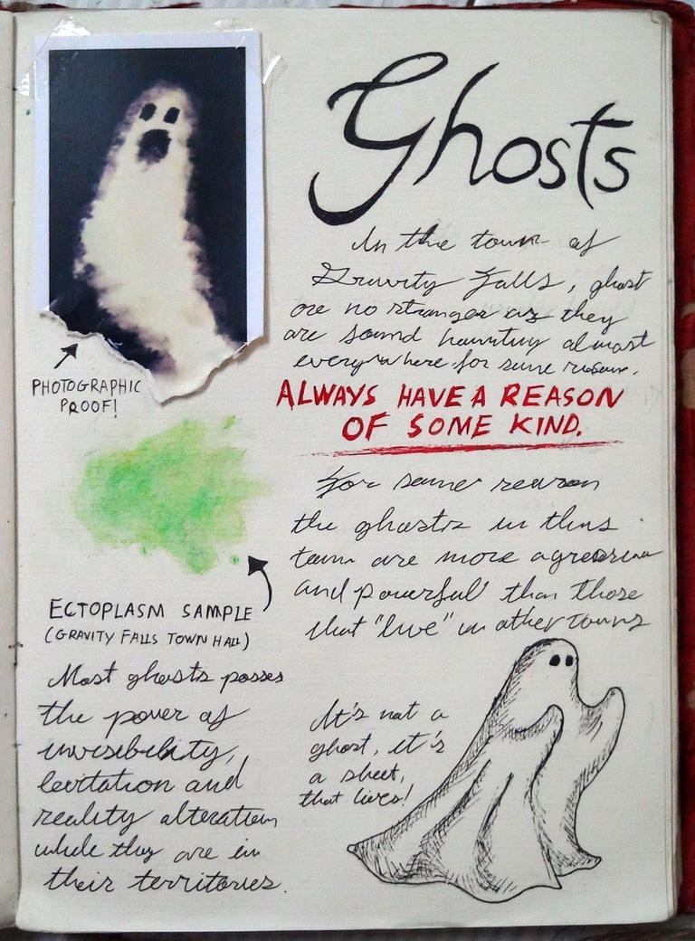 Gravity Falls Journal 3 Replica - Ghost by leoflynn