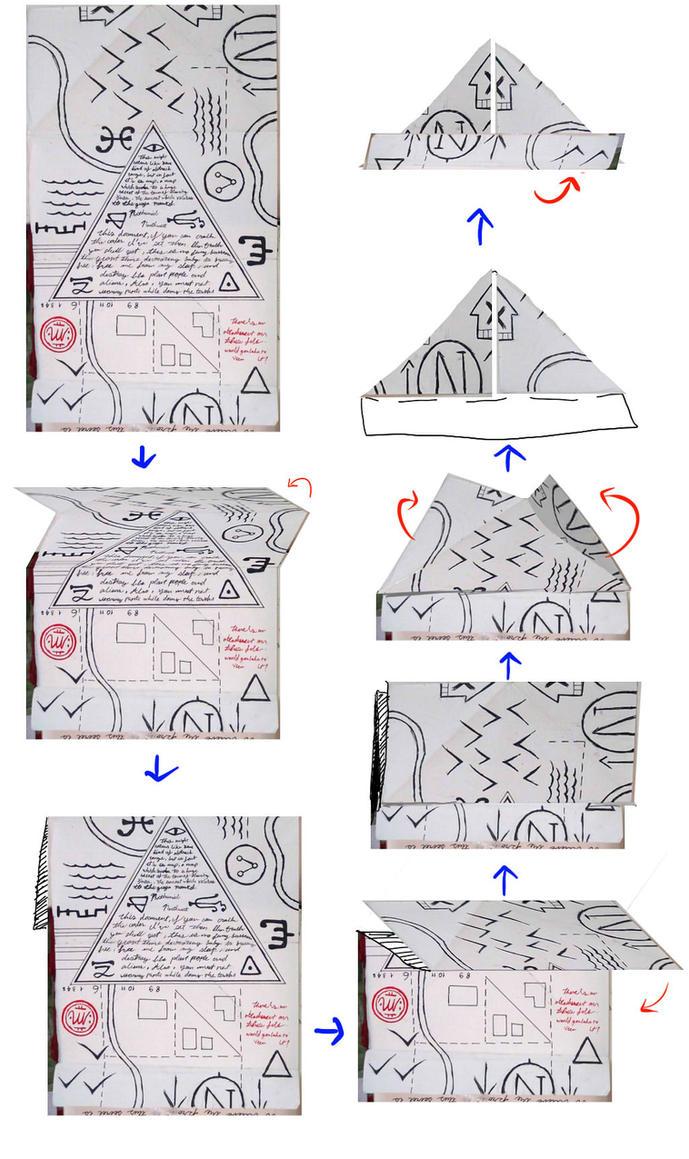Как из бумаги сделать кепку диппера