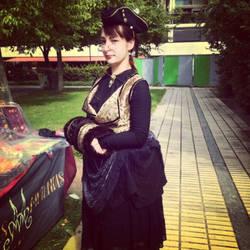 'Apothecary' bustle dress