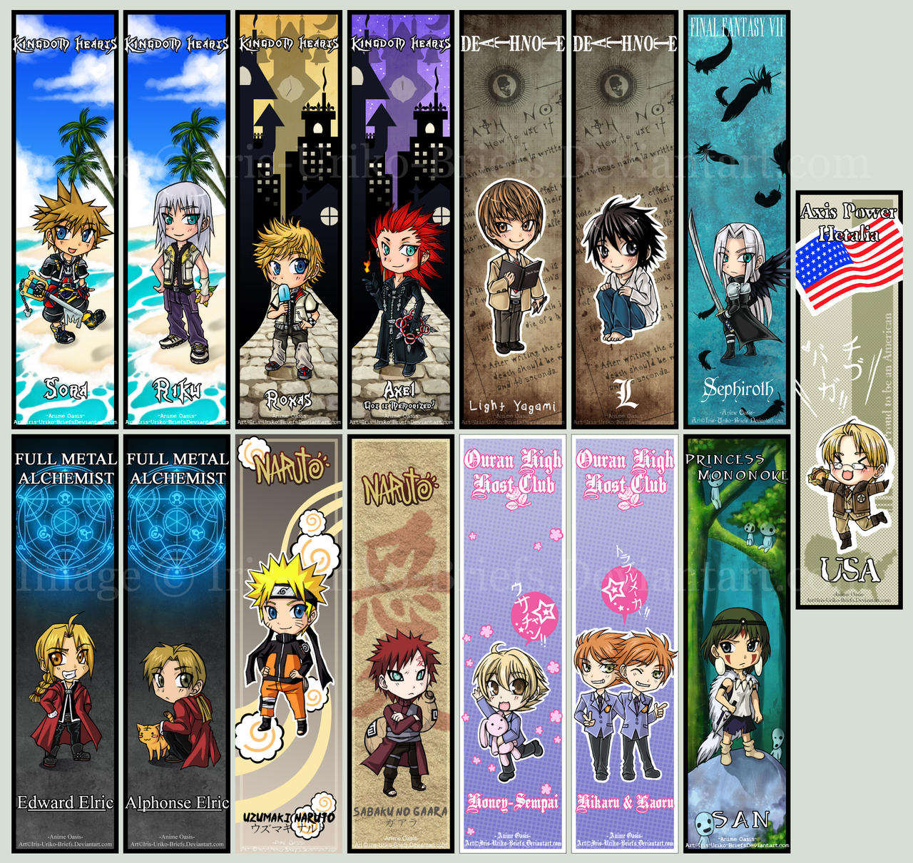 Anime Oasis Bookmarks by IrisHime