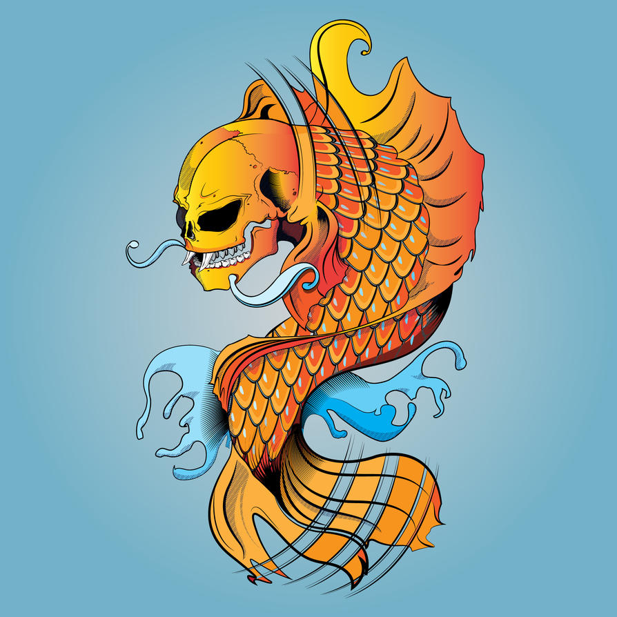 Deviant Koi Illustration by 3RDigraphics