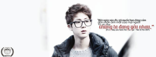 [Cover] Jin BTS Quote by girlchoding