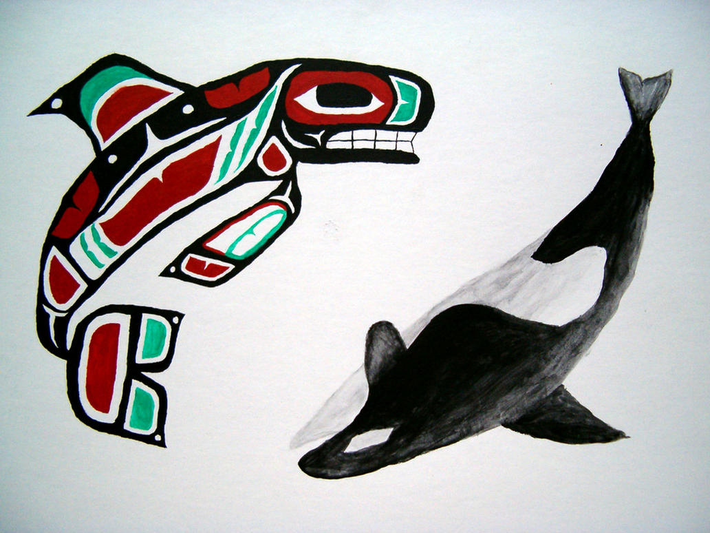 tlingit killer whale by Ahlana