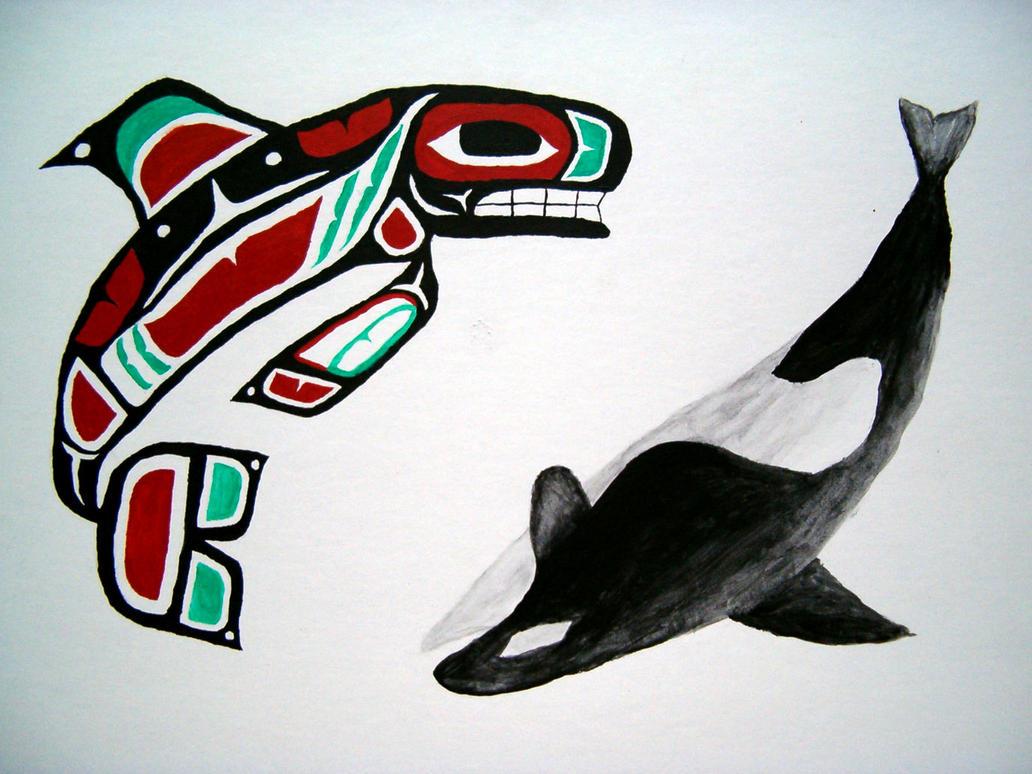 tlingit killer whale by Ahlana