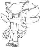 Edukundo The Hedgehog colorless