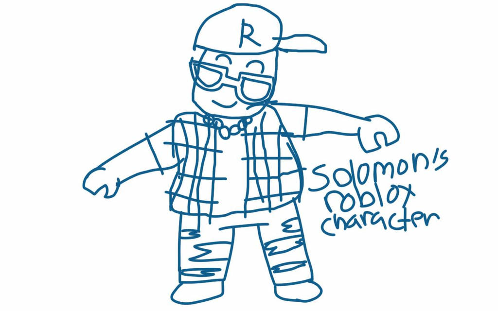my little brother's roblox character by somal86
