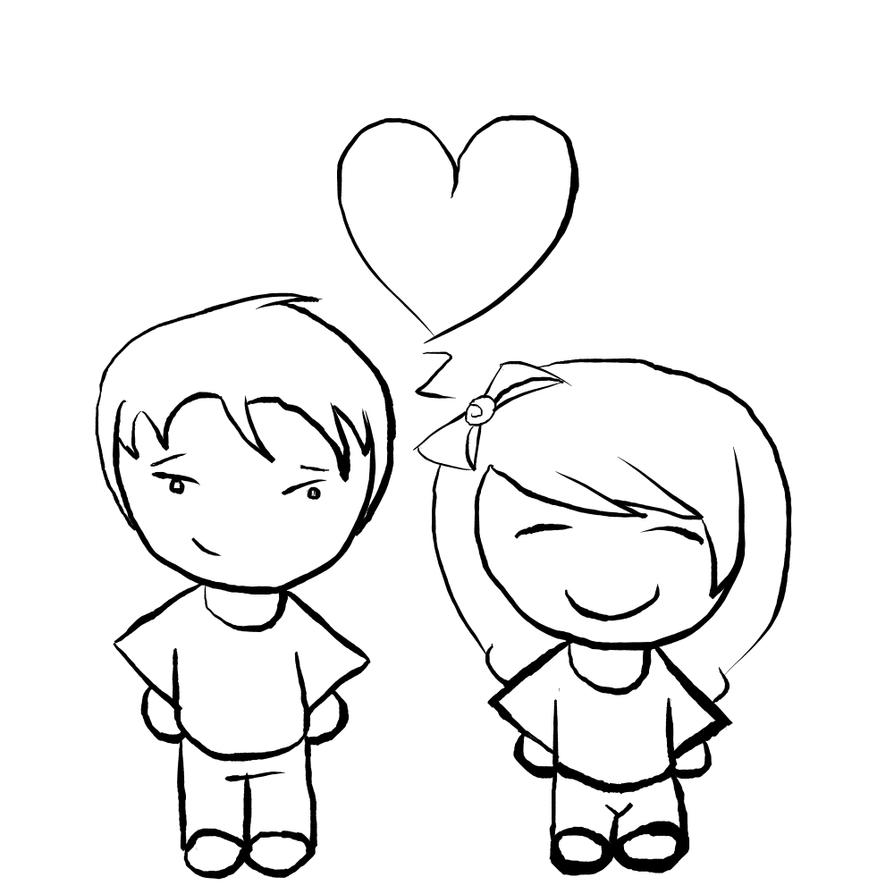 Line Drawing Valentine : Cute valentines line art by lmkiture on deviantart