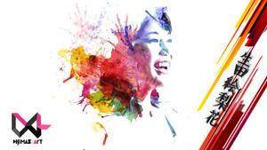 Ikuta Erika | Watercolor Splash Art by DRART