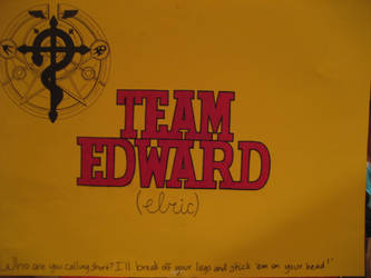 Ikkicon VII, 2012: Team Edward (elric) Sign by BroadwayBabe120