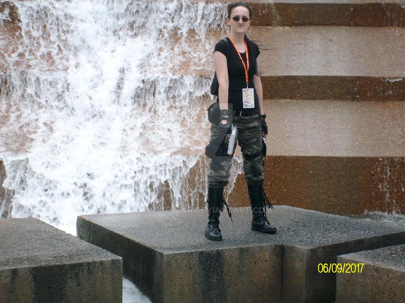 Lara Croft AOD Waterfall