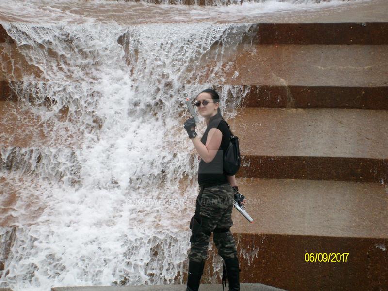 Lara Croft AOD Waterfall by KatyeBear