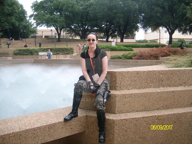 Lara Croft AOD Sitting pose by KatyeBear
