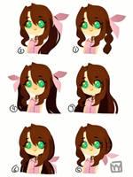 Aerith's hair style by yayay7