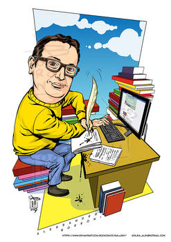 Caricature client writer - Alex Borroni