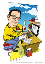 Caricature client writer - Alex Borroni by Rockomics