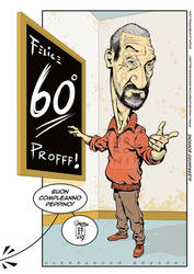 Caricature Teacher 60th Bday - Alex Borroni