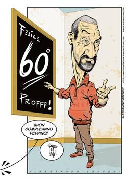 Caricature: Teacher 60th Bday - Alex Borroni