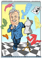 Caricature fashion dealer - Alex Borroni