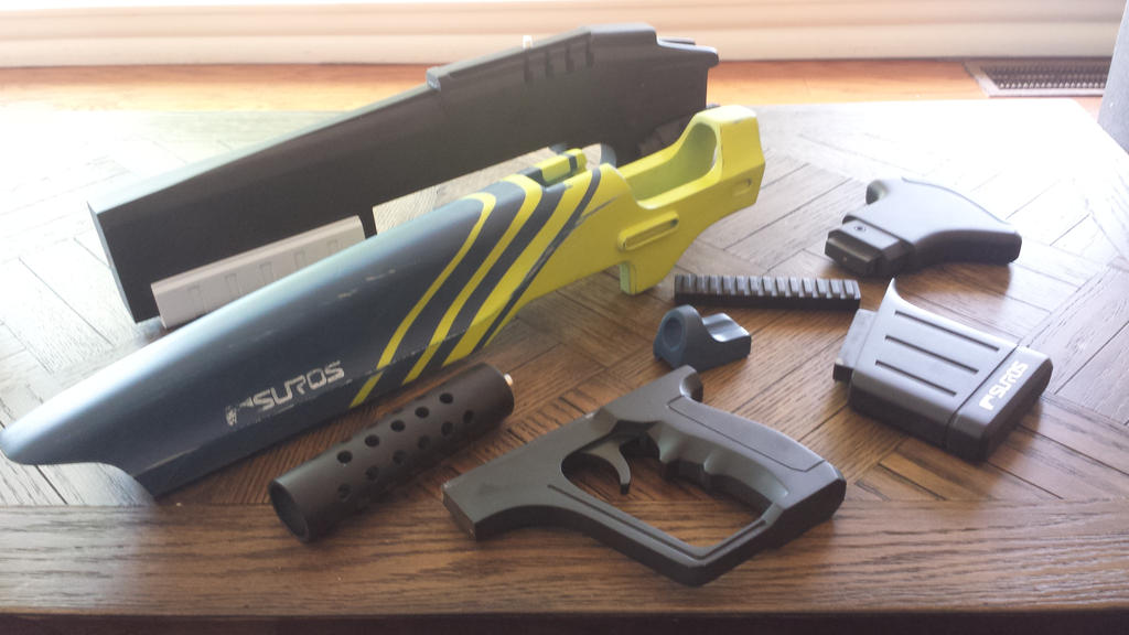 Hawksaw Pulse Rifle Wip (Parts) by GS-PROPS