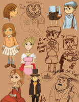 Layton and Peeps by theFuzzyHat