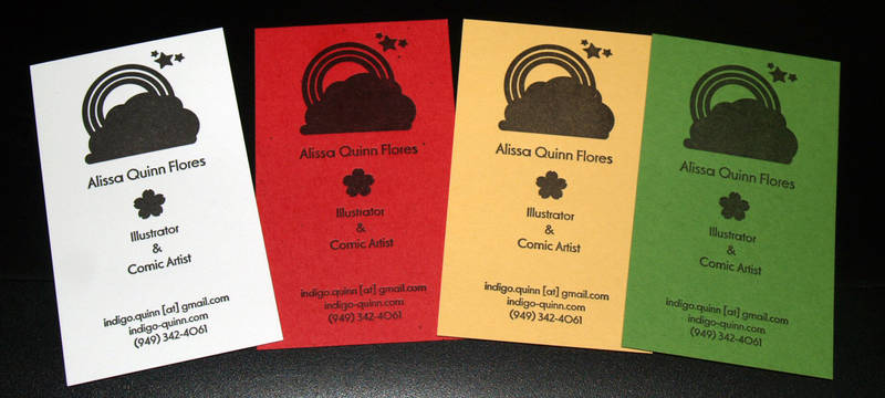 Letterpress Business Cards by theFuzzyHat