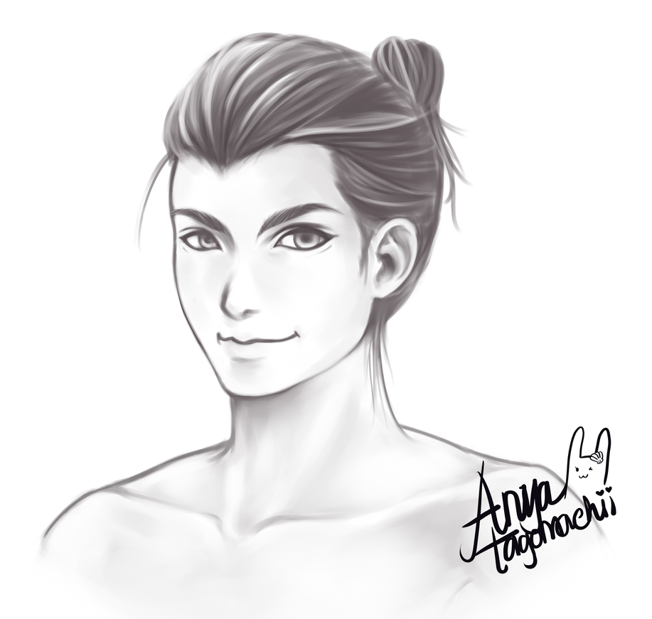 Man Bun by anyatagomachii