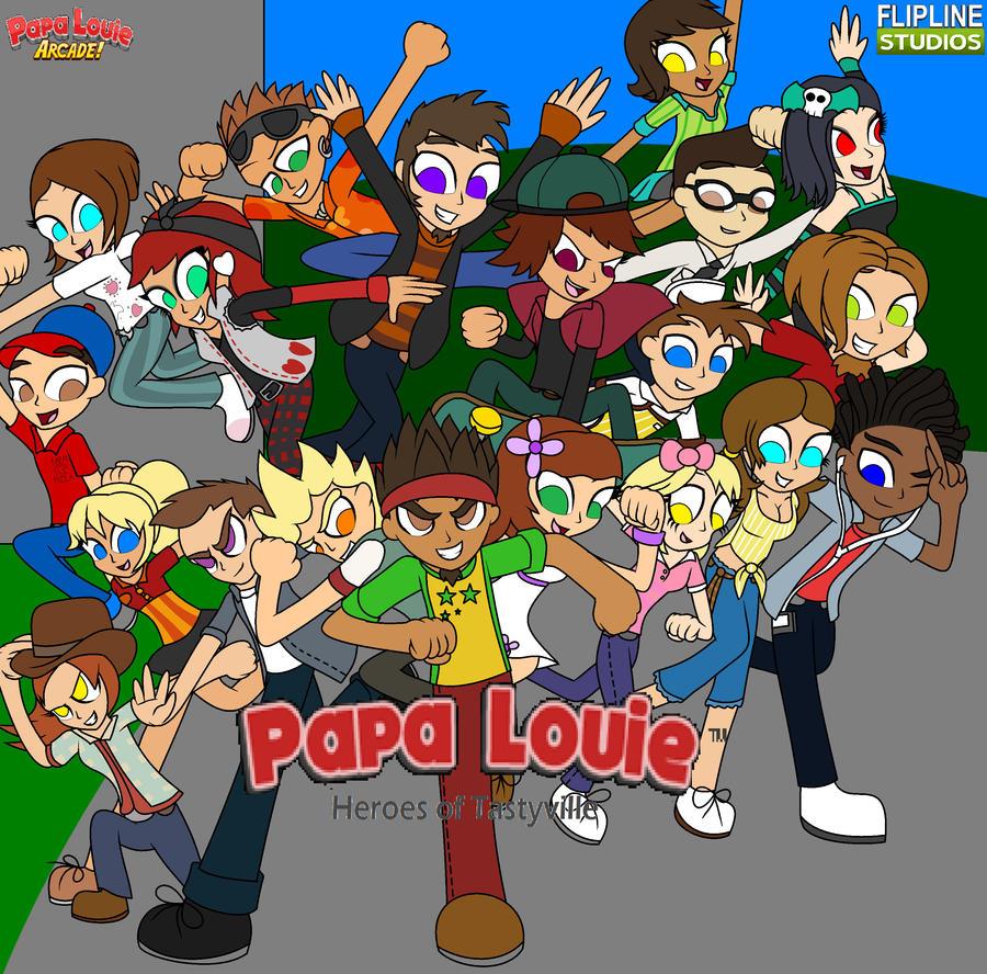 Papa Louie Heroes of Tastyville by Enderboy1908 ...