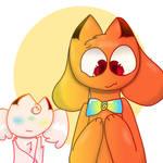 Boob's New Bow (Gift for kittydog)