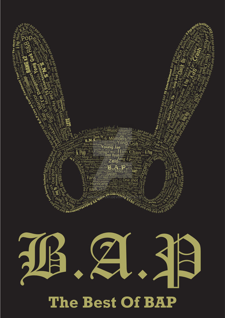 BAP Typographic Poster by tankbuster1 on DeviantArt Bap 1004 Album Cover