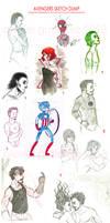 Avengers Sketch Dump!