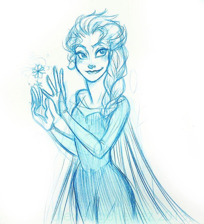 Elsa Doodle by Alexiel-VIII