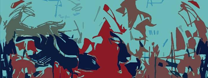 bird blue horizontal flip view by LaNimArt