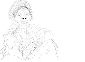 Haj Khanoom Sketch by LaNimArt