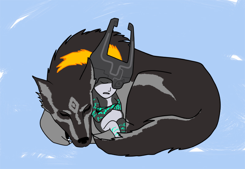 warrior resting with wolf - photo #12