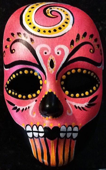 Pink Day of the Dead Mask by KittyHawk85 on DeviantArt