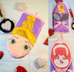Disney's Rapunzel 1990s-style puppet oven mitt by sethd2725