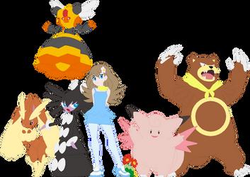Cindy Pokemon Team by AugieDoggie-Fan-92