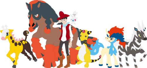 Quick Draw McGraw Pokemon Team by AugieDoggie-Fan-92