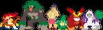 Magilla Gorilla Pokemon Team by AugieDoggie-Fan-92