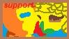 Minnow and Serpentine support stamp by NobleGundam