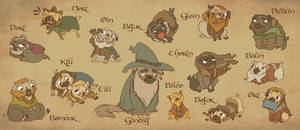 The Hobbit - Company of Pugs