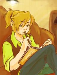 Gerda Studying by sunami56