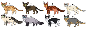 Cat Adopts 18 [0/7 CLOSED] by RibbonWren-Adopts