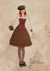 Steamgirl sketch 01 by mking2008