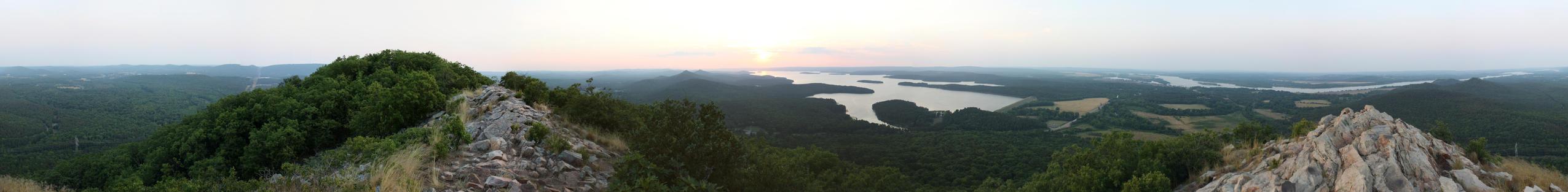 Pinnacle Mountain Panorama Just Before Sunset by smleimberg