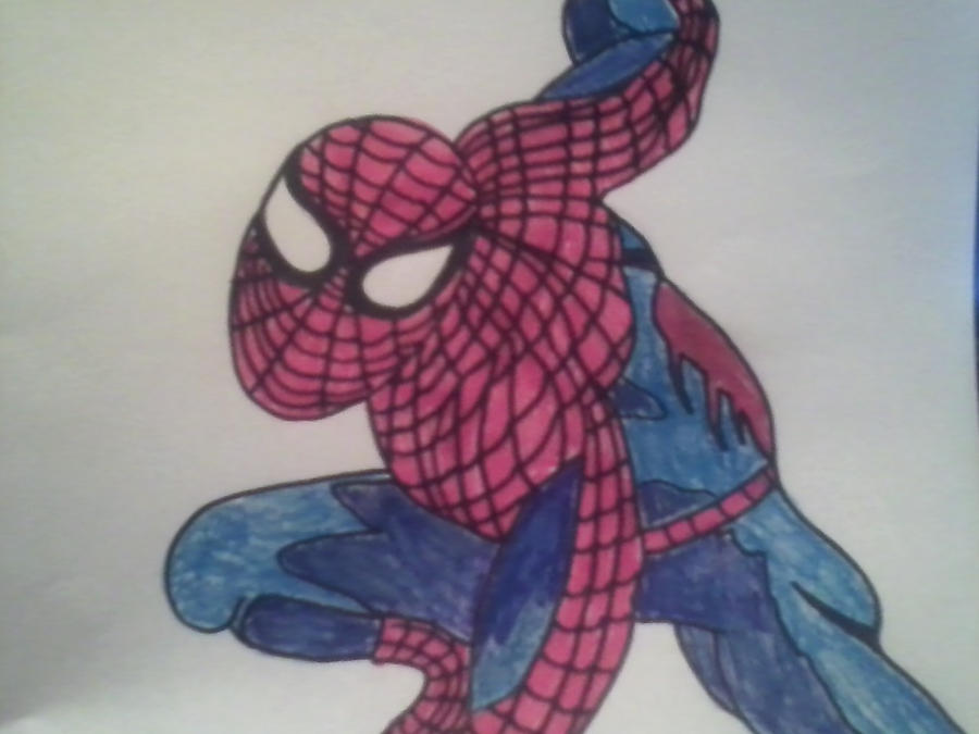 Spiderman Drawing Color First Spiderman Drawing Color