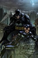 Batman Catwoman by scroll142